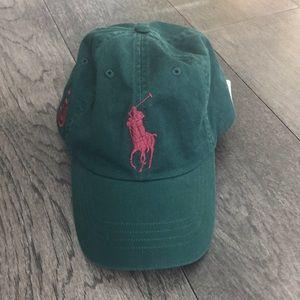 Ralph Lauren green cap.